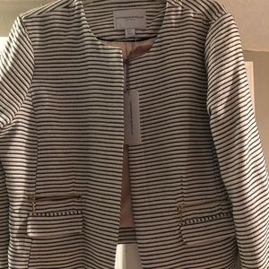 Navy blue striped jacket